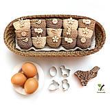 Dekorácie - Mini košíčky na vajíčka (100% biobavlna) - 10584131_