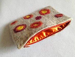 Taštičky - Plstená kapsička na drobnosti alebo kozmetiku - 10583139_