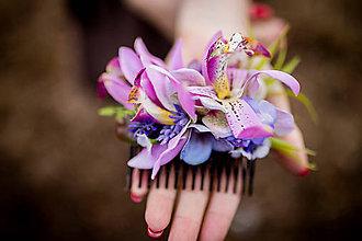 """Ozdoby do vlasov - Hrebienok """" orchidea vo vlasoch """" - hrebienky - 10586098_"""