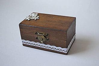 Prstene - krabička na prstienky čoko s kvietkami - 10586173_