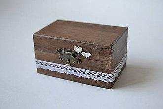 Prstene - krabička na prstienky čoko so srdiečkami - 10586192_