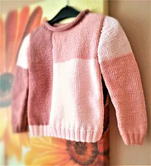 Detské oblečenie - Detský svetrík ružový - 10585267_