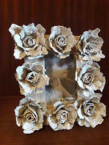Rámiky - Romantický rámček (Bordová) - 10584638_