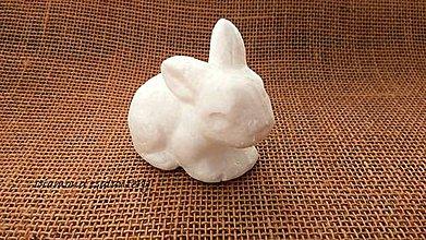 Galantéria - Polystyrénová tvarovka Zajačik 10 cm - 10585538_