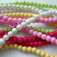 Korálky - Sklenené perly Panacolor ™ 4mm-30ks - 10585856_