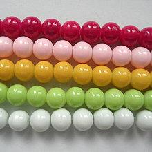 Korálky - Sklenené perly Panacolor ™ 8mm-10ks - 10585868_