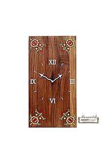 Hodiny - Orechové hodiny s ľudovým motívom - 10584428_