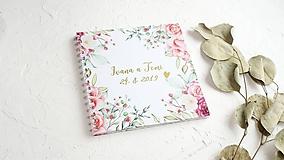 - Svadobná kniha hostí (30 listov 300g (vhodné na lepenie fotografií)) - 10584439_
