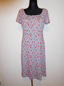 Šaty - Drobné červené kytičky - 10584725_