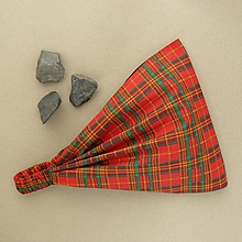 Ozdoby do vlasov - Škótske kocky - 10584249_
