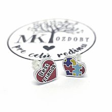 Náušnice - Náušničky pre radosť  (Best friend & Puzzle) - 10585334_