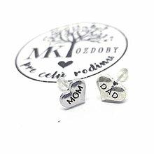Náušnice - Náušničky pre radosť  (Mom & Dad) - 10585380_