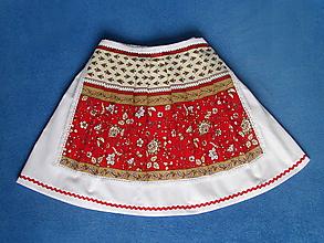 Detské oblečenie - detská folklórna sukňa a zásterka dĺžka 44 cm - 10584313_