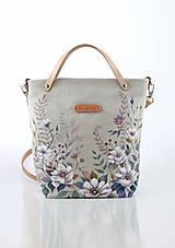 Kabelky - Ručne maľovaná ľanová kabelka