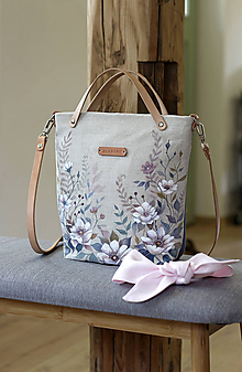 "Kabelky - Ručne maľovaná ľanová kabelka ""RosieBella"" - 10583899_"