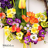 Dekorácie - Jarný veselý venček - 10584715_