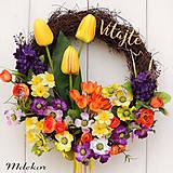 Dekorácie - Jarný veselý venček - 10584720_