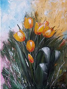 Obrazy - tulipány - 10582902_