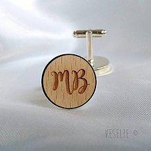 Šperky - Manžetové gombičky s monogramom - 10585123_