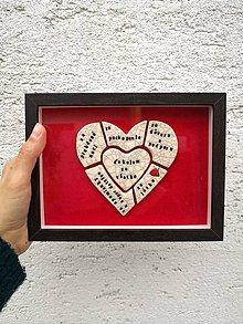 Darčeky pre svadobčanov - srdiečko v ráme - 10584734_