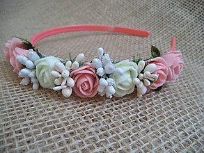 Ozdoby do vlasov - jemná kvetinová čelenka - 10585179_