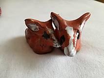Dekorácie - Keramická líška - 10583377_