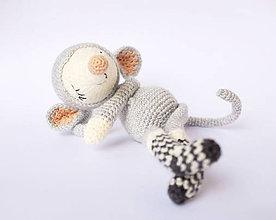 Hračky - myška v ponožkách - spinkáčik - 10583888_