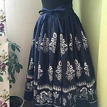 Sukne - sukňa 2 varianty modrej (sukňa dlhá bez podbitia) - 10583699_