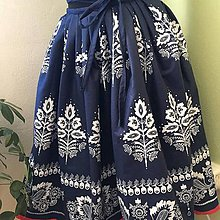 Sukne - sukňa 2 varianty modrej (sukňa s podbitím) - 10583700_