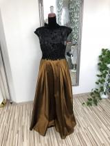 Šaty - Čierno-zlaté šaty Dorota - 10584240_