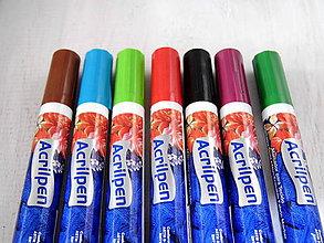 Pomôcky/Nástroje - Markery na textil - rôzne farby  (Červená) - 10583589_