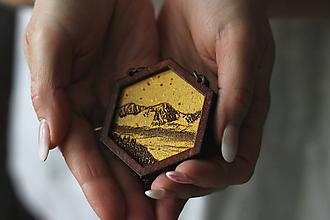 Náhrdelníky - Detail na Tatry (Zlatá) - 10585158_
