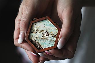 Náhrdelníky - Detail na Tatry (Tyrkysová) - 10585167_