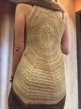 Iné oblečenie - Creativ natural - tepľučká kruhová vesta, ktorú si zamiluješ.. - 10584134_