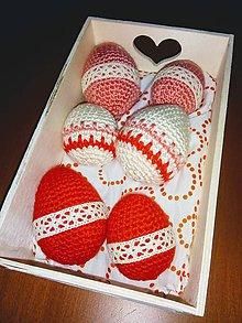 Iné doplnky - Veľkonočné vajíčka v krabičke - 10585467_