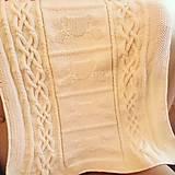 Textil - Ručne pletená detská deka - 10585021_