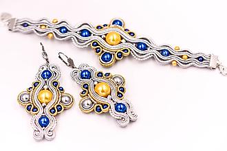 Sady šperkov - Sparkles - soutache set - 10583995_