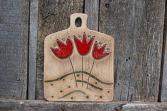 Obrázky - Keramický obrázok Tulipány - 10582726_