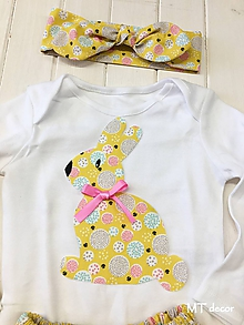 Detské oblečenie - BODY so zajkom - 10584199_