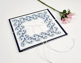 Papiernictvo - Nežný potôčik - obálka folk vyšívaná luxusná - 10586315_