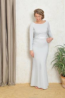 Šaty - Trblietavé šaty s riasením - Alex, svadobné, spoločenské - 10583159_