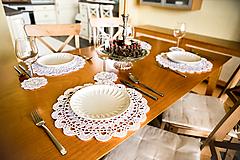 Úžitkový textil - Háčkované prestieranie biele - 10584608_