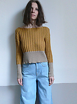 Svetre/Pulóvre - žltobéžový pulover - 10584671_