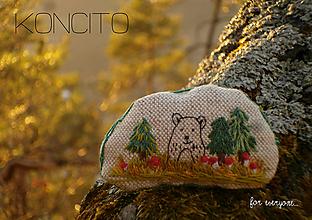 Odznaky/Brošne - brošňa: M a c o, les a muchotrávky... - 10588412_