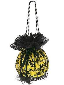 Kabelky - Pompadúrka žltá čipková , kabelka pre nevestu  9p (Bordová) - 10589383_