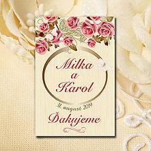 Darčeky pre svadobčanov - Svadobná magnetka - 10588385_