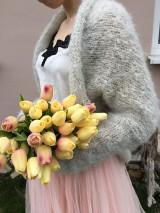 Svadobné bolero-pearl grey