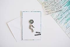 Papiernictvo - Gratulačný pozdrav - lapač snov - 10588469_