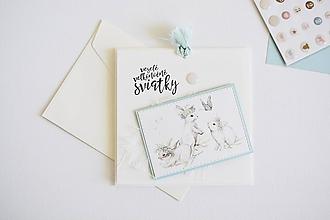 Papiernictvo - Veľkonočný pozdrav - zajačiky - 10588429_