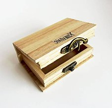 Polotovary - Mini krabička v tvare knihy, 10,5x7 cm - 10587612_